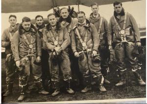 Flying training, Hamble, Willie Nelson at right (courtesy Jonny Lieberman)